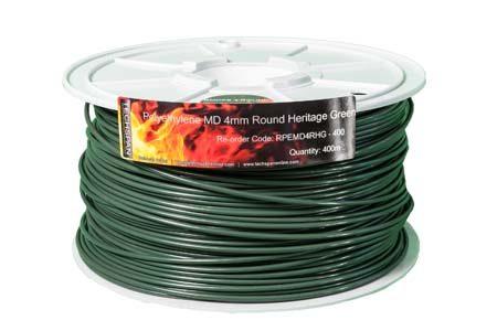 400m RPEMD4RHG PEMD 4mm Round Heritage Green